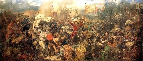 Batalla de Tannenberg cuadro de Matejko