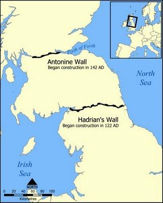 Construccion del Muro de Adriano