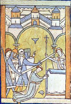 El asesinato de Thomas Becket en cuadro