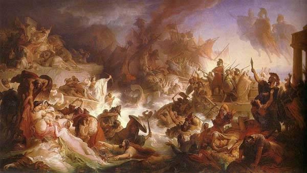 La batalla de Salamina, de Kaulbach