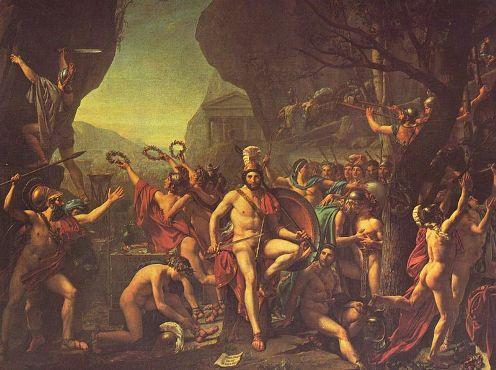 La batalla de las Termopilas de David