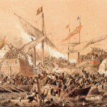 La batalla de Lepanto, junto al golfo de Patrás