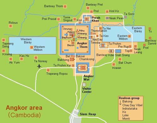 Mapa de Angkor Wat