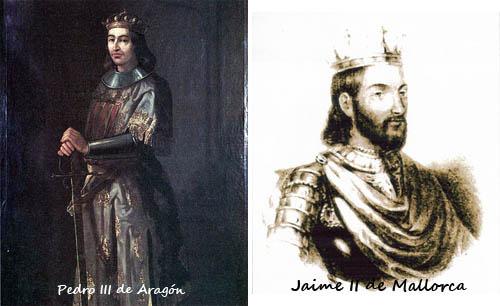 Pedro III de Aragon y Jaime II de Mallorca