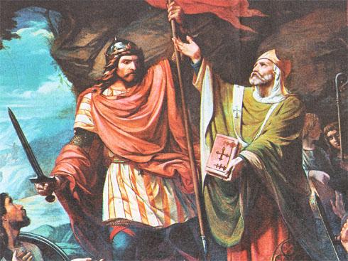 Pelayo, rey por Madrazo
