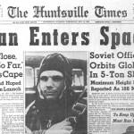 Yuri Gagarin y las murallas del Kremlin
