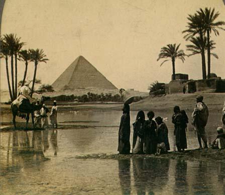 Pirámides de Gizeh, foto antigua
