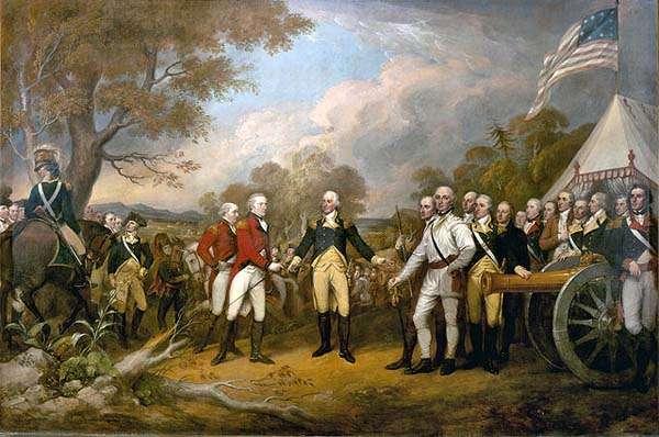 Rendición en la batalla de Saratoga