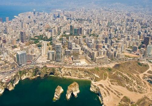 Vista aerea de Beirut