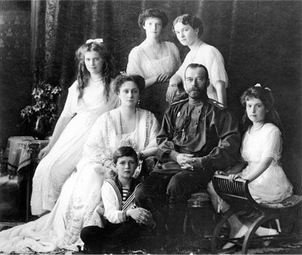 el Zar Nicolas II y su familia