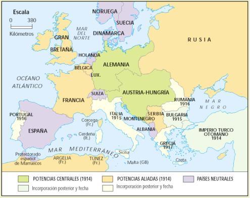 map-de-europa-en-1914